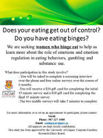Do you binge eat? Females needed for online study!