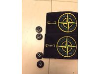 STONE ISLAND BADGES REPLACEMENT ALL BLACK SHADOW FOR JUMPERS JACKETS JEANS HOODIE HAT