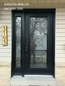 Entrance Side Door Front Window  Custom Size