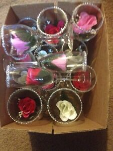 Assorted wine and champagne glasses
