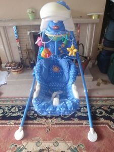 Baby swing and newborn to toddler rocker