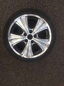 4x 5 stud alloy wheels!