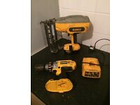 Dewalt nailer and drill