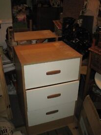 Dressing Table with 3 solid drawers and a lovely Mirror. Super for a youngster.