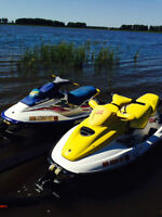 1996 & 1997 Seadoo`s with Double Trailer
