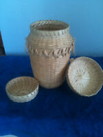 Hand Made Black Ash Basket