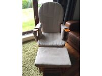 Nursing/rocking chair with footstool