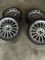 """20"""" Rims and Tires set of 4 (5 on 108) Excellent Condition"""