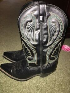 Black Leather Laredo Cowboy Boots - Worn Once