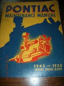 ORIGINAL 1949-1950 PONTIAC MAINTENANCE SHOP REPAIR MANUAL