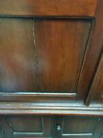 nice tv cabinet hand carved in solid mahogany