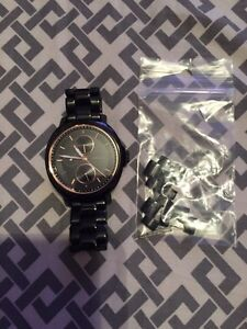 Chelsey multifunction black Fossil watch