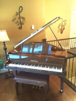 Baby Grand Piano and Bench