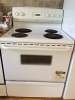 Oven, fridge, freezer, washer and dryer all for $100 each.