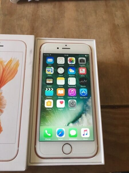 Iphone 6s Rose Gold 16gb unlocked brand newin Old Trafford, ManchesterGumtree - Iphone 6s rose gold 16gb unlocked100% GENUINE PHONEAbsolute Bargain Price!New! Condition under apple warranty.Comes with charger with new BoxedAnd headphones. You can see in pics!Just send txt or email or sms may answer phone but not always! I will...