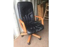 Adjustable leather office chairs
