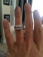 Gorgeous flawless wedding set! Freshly dipped and barely warn