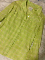 areopostale Green/Yellow button up