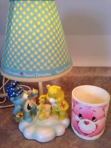 Care Bears vintage night light lamp and cup