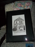 Original pen and ink of the Humboldt House  in Victoria