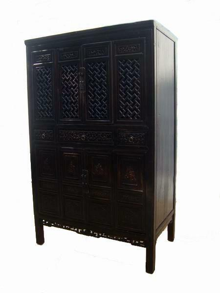 Lattice and Carved Cabinet