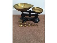 Librassco scales with brass bell weights