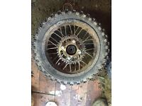 "12"" rear pit bike wheel"