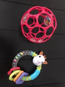 Sophie The Giraffe Teether Rattle and Ball Rattle. BPA free