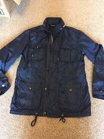 Dark blue Tommy Hilfiger shower rain coat, size S