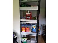 New in package PULL OUT SOFT CLOSE LARDER UNIT, 5 baskets. 1.75cm l, 24cm w. In the shop cost around