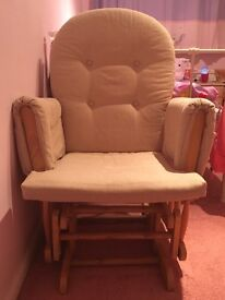 Rocking chair with matching footstool