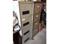 2 sets of filing cabinets