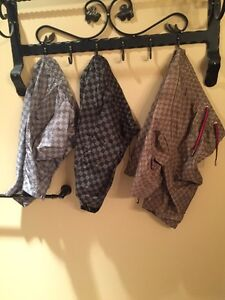 Louis Vuitton and Gucci swim trunks