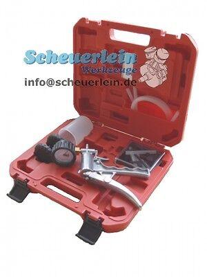Vakuumpumpe mit Manometer / KFZ Unterdruck Vakuum Pumpe Aluminium prüfen messen