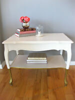 Table d'appoint relookée / Refurbished Side Table/Nightstand