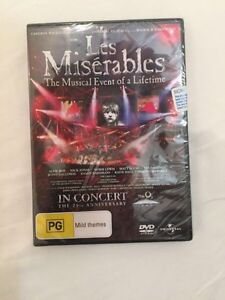 Brand new, sealed LES MISERABLES 25th ANNIVERSARY AT THE O2 DVD Darwin CBD Darwin City Preview