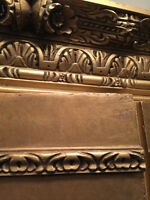 Huge Golden Antique Armoire