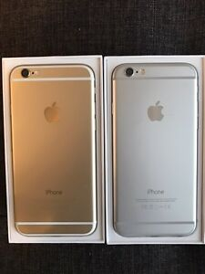Like new 2 iPhone 6's for sale! 16GB silver and 64GB gold BELL