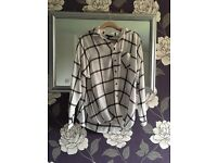 Check Wrap Shirt *Like New*