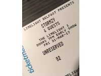 Stormy Belfast limelight ticket