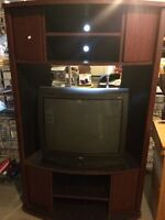 TV stand with storage (TV is gone/not available)