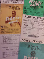 Rogers Cup Tennis 10 August Amazing seats!
