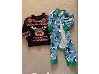 Christmas baby outfits (romper from BODEN)
