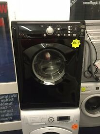 ***Stunning Black Hotpoint 7kg 1400spin washing machine***Free Delivery**Fitting**Removal