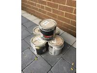 5 Tins of ronseal charcoal decking stain