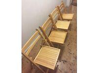 Set of 4 folding indoor/outdoor chairs
