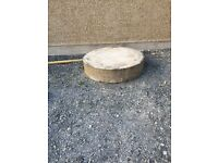 Concrete ring to suit oil tank