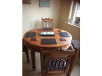 Sheesham Jali wood round table & 4 chairs