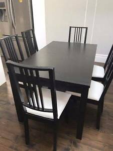 IKEA BJURSTA dining table set with 6 chairs - EXCELLENT CONDITION Leichhardt Leichhardt Area Preview