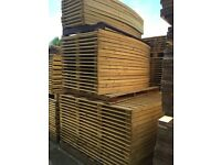 🔨🌟Heavy Duty Pressure Treated Feather Edged Bow Top Fence Panels